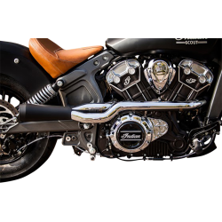 2 into 1 Exhaust Trask Indian Scout 2into1_trask_exhaust_chrome_black_indian_scout_only