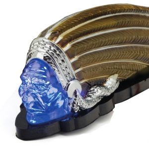 Indian Motorcycle 6 Inch Warbonnet Blue Led