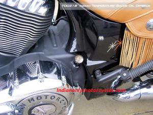MotorcycleDipsticks TD021 Indian Temperature Gauge Oil  Dipstick black