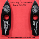INDIAN ENGRAVED MOTORCYCLE SADDLEBAG LATCH HANDLE
