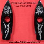 INDIAN ENGRAVED MOTORCYCLE SADDLEBAG LATCH HANDLE