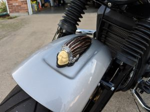 Warbonnet installed on Indian Scout with Amber Led