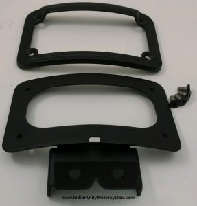 black indian license plate lay down kit