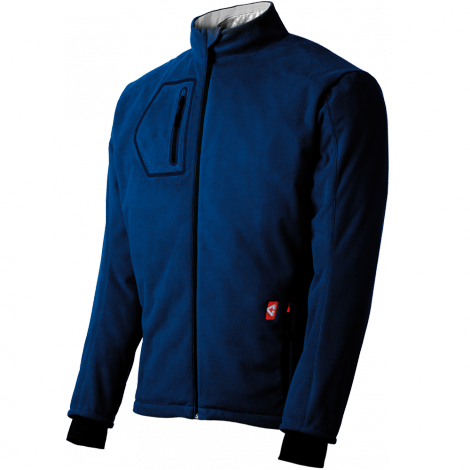 Gerbing Fleece Heated Jacket Blue Cold Weather Riding
