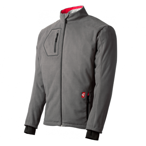 Gerbing Fleece Heated Motorcycle Jacket Gray Cold Weather Riding