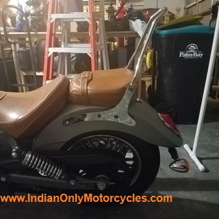 indian scout sissybar chrome installed chopper 2