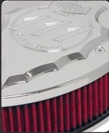Performance, Style, Tradition.. Show all three with Lloyd'z new Indian Arrowhead Airbox! The Arrowhead Airbox is offered in either Chrome or Black Powdercoat with Contrast-Cut, and the filter elements are offered in Red, Black, or Natural Un-dyed. We're currently seeing gains of 5-6 HP with the installation of the airbox alone, and 8-10 HP when used in conjunction with our Performance Slip-ons.
