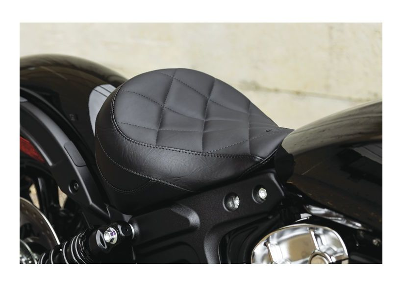 Sheepskin Motorcycle Seat Covers >> INDIAN SCOUT BOBBER SOLO SEAT TOURING MUSTANG Indian Only Motorcycle Custom Parts Accessories ...