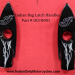 Indian Motorcycle Saddlebag Latch Contrast Cut