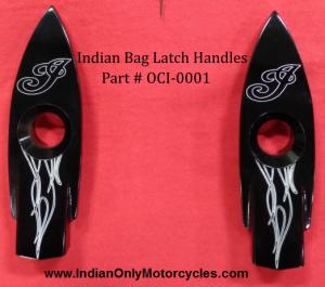 Indian Motorcycle Saddlebag Latch Contrast Cut