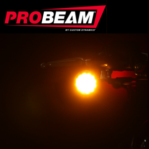 """Complete ProBEAM® turn signal units are a direct plug and play, bolt on Front Turn Signal replacement for the OEM turn signal housing on all 2014-2019 indian® Chief® and Springfield™ models. Replaces OEM Rear Turn Signals on 2014-2019 Indian® Chief®, Springfield™, and Roadmaster® Models. All 2014-2018 Chieftain® Models and 2019 Chieftain® Classic. Units measure 3.125"""" Long x 2.25"""" Diameter. No additional modules required. Lifetime Warranty against LED failure. Sold Pair."""
