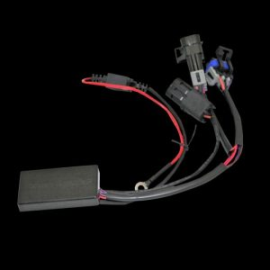 converts rear single function turn signals to operate as run, brake, and turn signal with choice of 10 user selectable built in brake light strobe/flash patterns